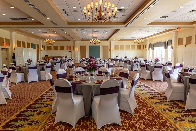 Irem Clubhouse Ballroom - Purple Setting